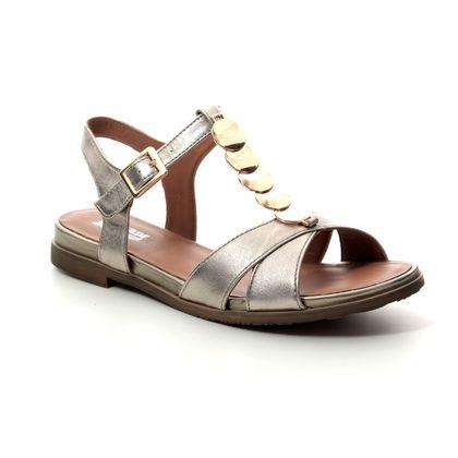 Regarde le Ciel Flat Sandals - Pewter suede - 4081/00 NELLY 08