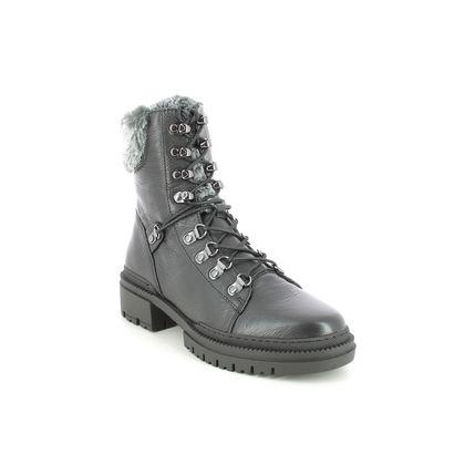 Regarde le Ciel Biker Boots - Black leather - 0012/5963 PAYTON 12 FUR