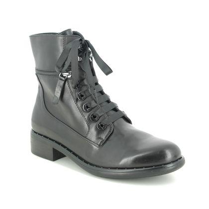 Regarde le Ciel Lace Up Boots - Black leather - 2604/2695 ROXANA 04