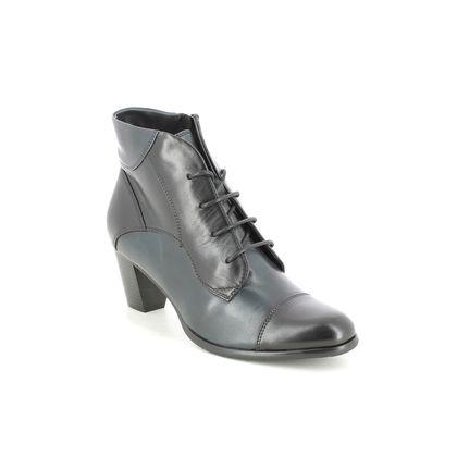 Regarde le Ciel Heeled Boots - Black Navy combi - 0123/166 SONIA  123