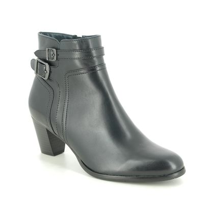 Regarde le Ciel Heeled Boots - Navy Leather - 2076/150 SONIA  76