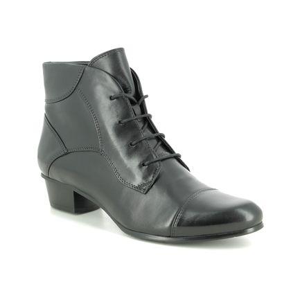 Regarde le Ciel Lace Up Boots - Black leather - 9003/32 STEFANY 123 LACE