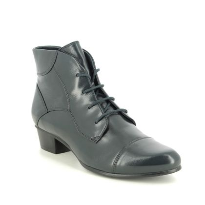 Regarde le Ciel Lace Up Boots - Navy leather - 0123/150 STEFANY 123 LACE