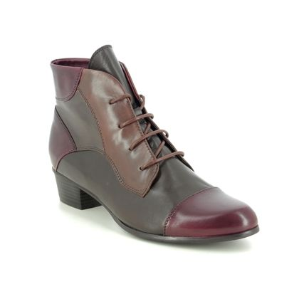 Regarde le Ciel Lace Up Boots - Brown Wine - 0123/2750 STEFANY 123 LACE