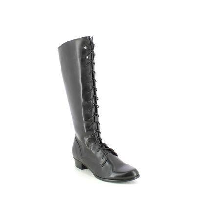 Regarde le Ciel Knee High Boots - Black leather - 0124/003 STEFANY 124 LAC