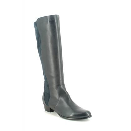 Regarde le Ciel Knee High Boots - Navy Leather - 0274/5432 STEFANY 274