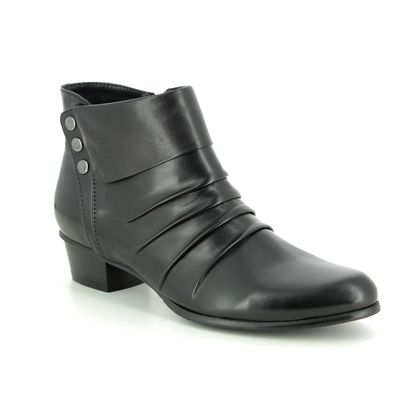 Regarde le Ciel Boots - Ankle - Black leather - 9003/31 STEFANY 278