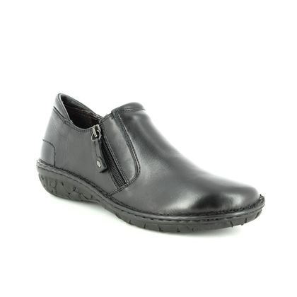 Relaxshoe Comfort Slip On Shoes - Black leather - 26787/30 AMUZE