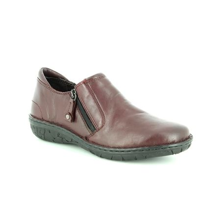 Relaxshoe Comfort Slip On Shoes - Wine leather - 26787/81 AMUZE
