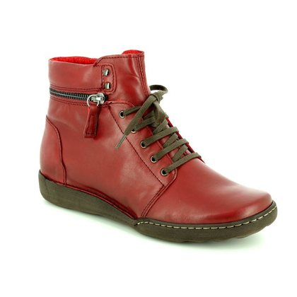Relaxshoe Fashion Ankle Boots - Dark Red - 215154/60 CALYHIZE