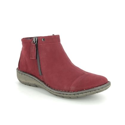 Relaxshoe Boots - Ankle - Red leather - 37572/80 FRIDA