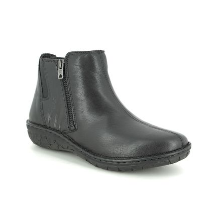 Relaxshoe Ankle Boots - Black leather - 26792/30 INCAS  ZIP