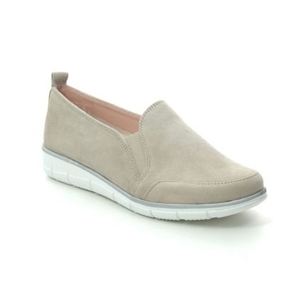 Relaxshoe Comfort Slip On Shoes - Light Taupe suede - 516007/50 NAOMI  SLIP