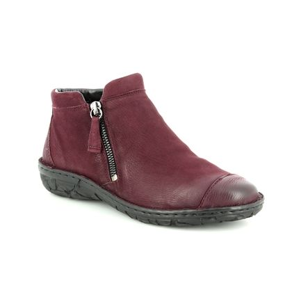 Relaxshoe Fashion Ankle Boots - Wine leather - 26759/81 SUFFCAP