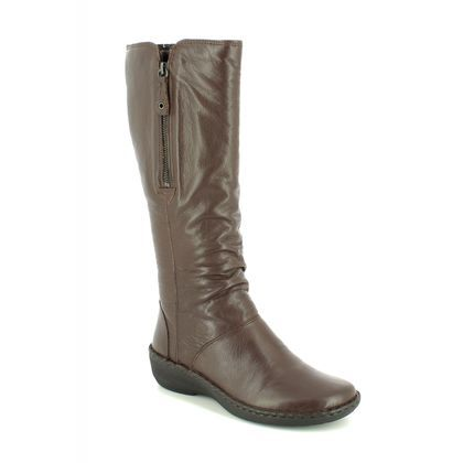 Relaxshoe Knee High Boots - Brown leather - 291004/20 SUFFLONG