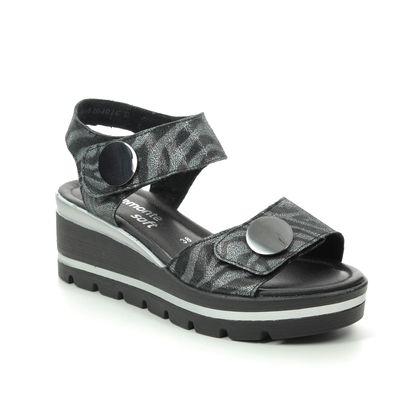 Remonte Wedge Sandals - Black Multi Leather - D1565-02 ALTONE