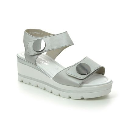 Remonte Wedge Sandals - Light Grey Leather - D1565-90 ALTONTE