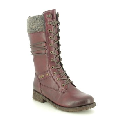 Remonte Mid Calf Boots - Wine - D8077-35 ANDROLA TEX