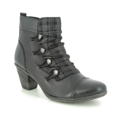 Remonte Boots - Ankle - Black leather - D8792-04 ANNIBUT
