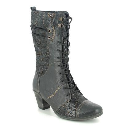Remonte Mid Calf Boots - Black leather - D8791-03 ANNIMID