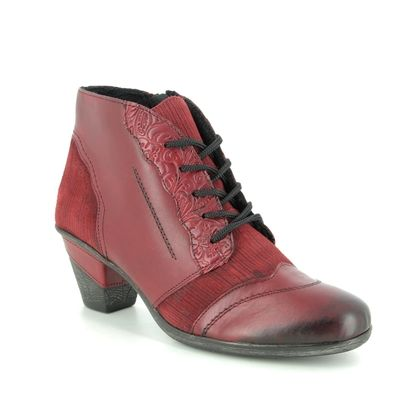 Remonte Boots - Ankle - Red leather - D8789-35 ANNITELF
