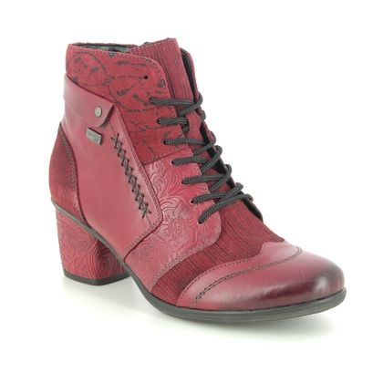 Remonte Lace Up Boots - Red leather - D5470-35 ANNSTIE TEX