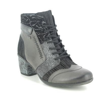 Remonte Lace Up Boots - Dark Grey - D5470-45 ANNSTIE TEX