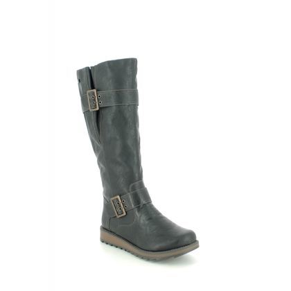 Remonte Knee High Boots - Black - D8886-01 ASTRIBUC TEX
