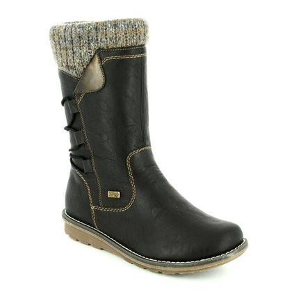Remonte Mid Calf Boots - Black - R1094-00 ASTRISHCUF TEX