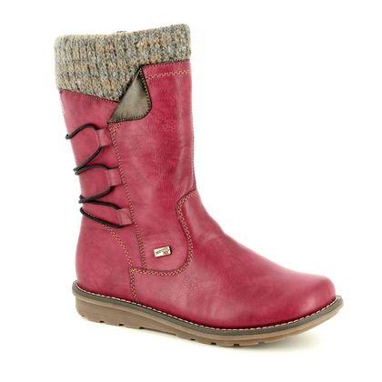 Remonte Mid Calf Boots - Wine - R1094-35 ASTRISHCUF TEX