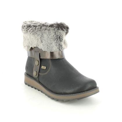 Remonte Mid Calf Boots - Black - D8874-01 ASTRITURN TEX