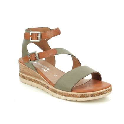 Remonte Wedge Sandals - Green - D3052-54 BOUSTRAP
