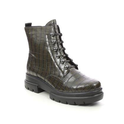 Remonte Biker Boots - Green croc - D8977-54 CHUNKY