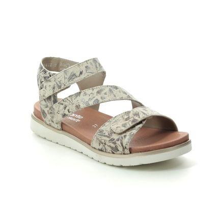 Remonte Comfortable Sandals - Beige Floral - D4057-60 DESYCRO