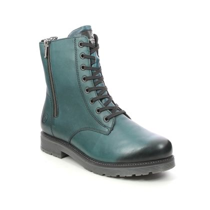 Remonte Lace Up Boots - Turquoise Leather - D4871-12 DOCLEAT ZIP
