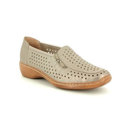 Remonte Comfort Slip On Shoes - Light taupe - D1635-92 DORLAS