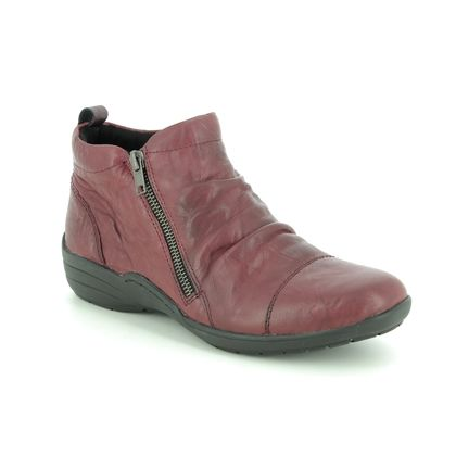 Remonte Boots - Ankle - Red leather - R7673-35 EMBRACE DORBO