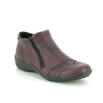 Remonte Boots - Ankle - Wine leather - R7671-35 EMBRACE ZIP