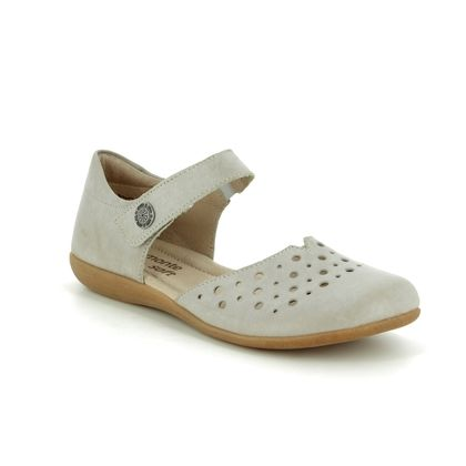Remonte Mary Jane Shoes - Stone leather - R3851-81 FIONA VEL
