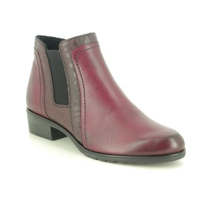 Remonte Chelsea Boots - Wine leather - D6876-35 FLORENCIA