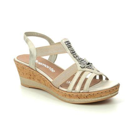 Remonte Wedge Sandals - Gold - D4759-60 HALT