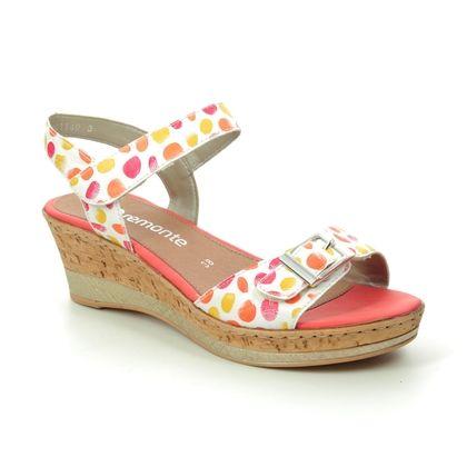 Remonte Wedge Sandals - Coral - D4754-81 HALTAIN