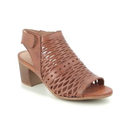 Remonte Heeled Sandals - Tan Leather - D2170-24 KAYLIN CROSS