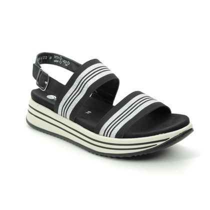 Remonte Comfortable Sandals - Black-Silver - R2950-02 LENIA