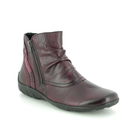 Remonte Boots - Ankle - Wine leather - R3480-35 LIVBIRBOOT 95