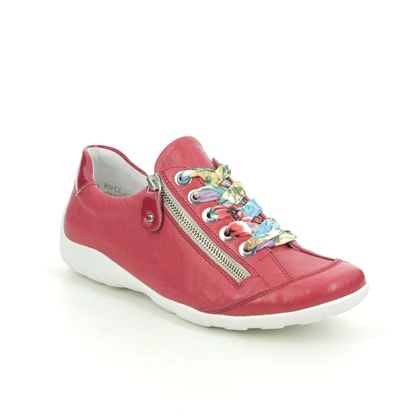 Remonte Comfort Lacing Shoes - Red leather - R3435-33 LIVSPACE