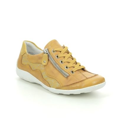 Remonte Comfort Lacing Shoes - Yellow - R3416-68 LIVTEXT