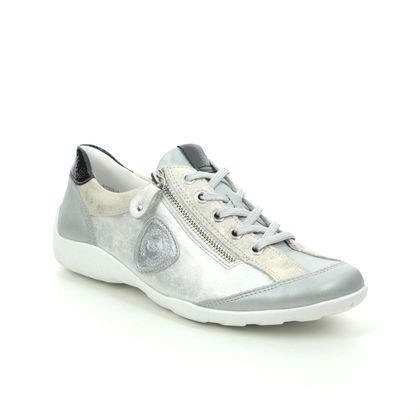 Remonte Comfort Lacing Shoes - Silver multi - R3415-91 LIVZIP 11