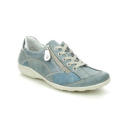 Remonte Comfort Lacing Shoes - BLUE LEATHER - R3405-14 LIVZIPA 01