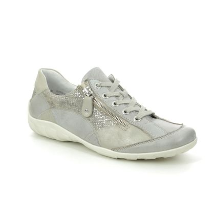 Remonte Comfort Lacing Shoes - Light Grey - R3405-90 LIVZIPA 01